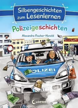 Silbengeschichten zum Lesenlernen – Polizeigeschichten von Fischer-Hunold,  Alexandra, Wieker,  Katharina