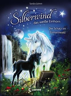 Silberwind, das weiße Einhorn – Der Schatz im Einhornwald von Grimm,  Sandra, Schröter,  Carolin Ina