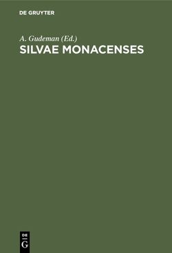 Silvae Monacenses von Gudeman,  A.