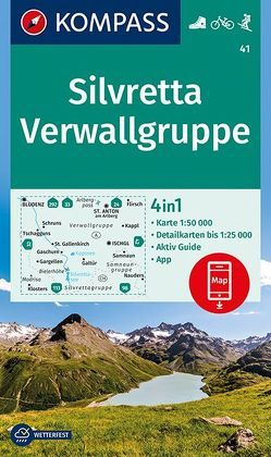 Silvretta, Verwallgruppe von KOMPASS-Karten GmbH