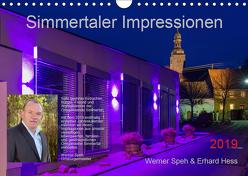 Simmertaler Impressionen (Wandkalender 2019 DIN A4 quer) von Hess,  Erhard, Speh,  Werner