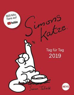 Simons Katze Tagesabreißkalender – Kalender 2019 von Heye, Tofield,  Simon