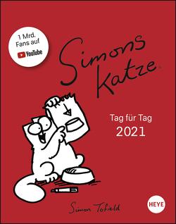 Simons Katze Tagesabreißkalender Kalender 2021 von Heye, Tofield,  Simon