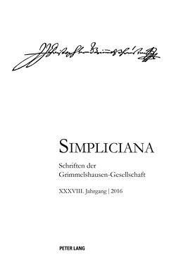 Simpliciana XXXVIII (2016) von Heßelmann,  Peter