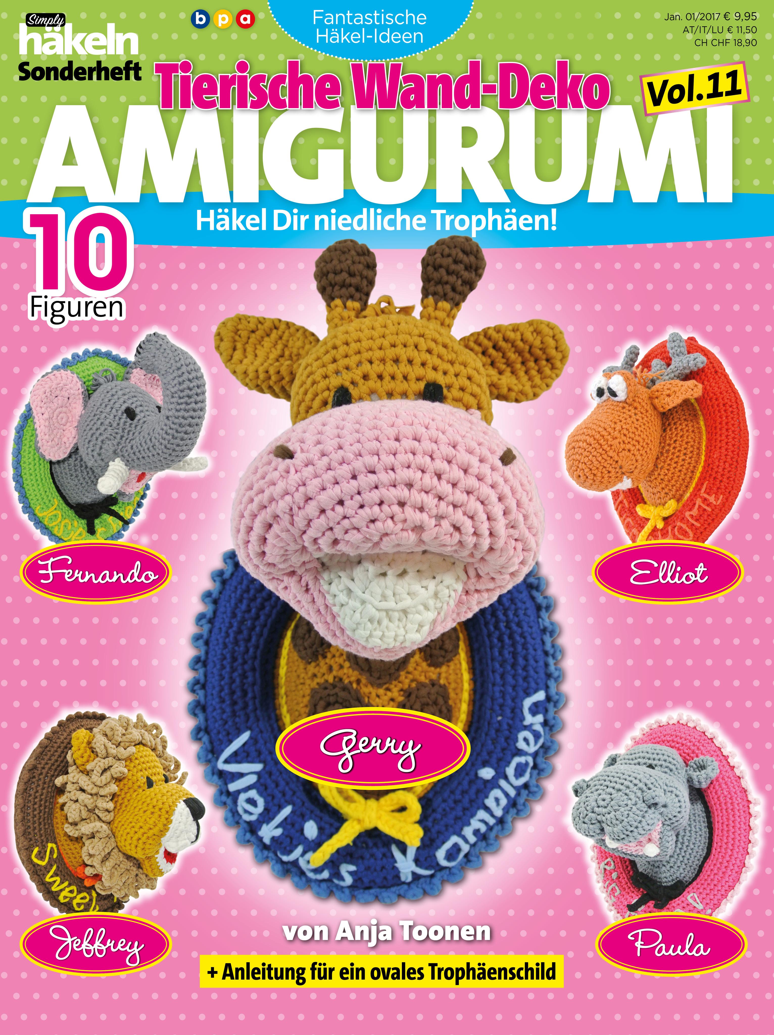 Simply Häkeln Fantastische Häkel Ideen Tierische Wanddeko Amigurum