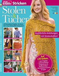 simply kreativ Stricken – Stolen & Tücher, Vol. 1 von bpa media GmbH, Buss,  Oliver