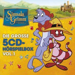 SimsalaGrimm – Die große 5-CD Hörspielbox, Vol. 1 von Kolo,  Stefan, Sahling,  Karsten, Schnitzler,  Harry, Schröder,  Jörn, Trommer,  Ralph, u.v.a.
