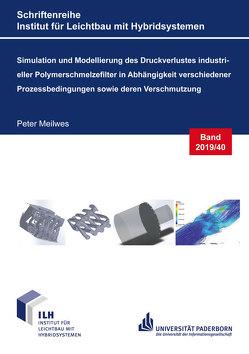 Simulation und Modellierung des Druckverlustes industrieller Polymerschmelzefilter in Abhängigkeit verschiedener Prozessbedingungen sowie deren Verschmutzung von Meilwes,  Peter