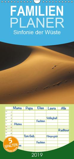 Sinfonie der Wüste – Familienplaner hoch (Wandkalender 2019 , 21 cm x 45 cm, hoch) von Walheim,  Berthold