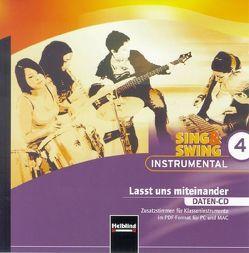 Sing & Swing Instrumental 4. Lasst und miteinander. Daten-CD von Maierhofer,  Lorenz