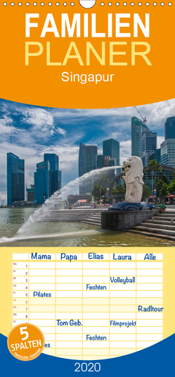 Singapur – Familienplaner hoch (Wandkalender 2020 , 21 cm x 45 cm, hoch) von Gödecke,  Dieter