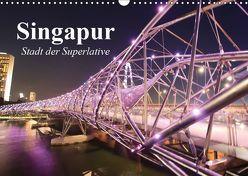 Singapur. Stadt der Superlative (Wandkalender 2019 DIN A3 quer) von Stanzer,  Elisabeth