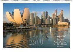 Singapur: Zwischen Wolkenkratzern und Superbäumen (Wandkalender 2019 DIN A2 quer) von Heber,  Michael