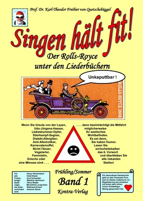 Singen hält fit! (Band 1 Frühling / Sommer) von Freibier von Quetschebüggel,  Karl-Theodor