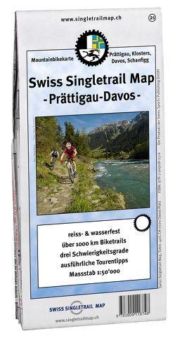 Singletrail Map 021 Prättigau von Giger,  Thomas