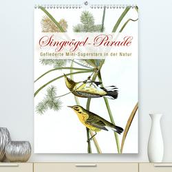 Singvögel-Parade (Premium, hochwertiger DIN A2 Wandkalender 2020, Kunstdruck in Hochglanz) von bilwissedition.com Layout: Babette Reek,  Bilder: