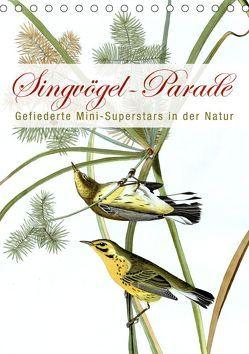 Singvögel-Parade (Tischkalender 2019 DIN A5 hoch) von bilwissedition.com Layout: Babette Reek,  Bilder:
