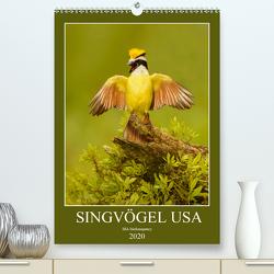 Singvögel USA (Premium, hochwertiger DIN A2 Wandkalender 2020, Kunstdruck in Hochglanz) von birdimagency,  BIA