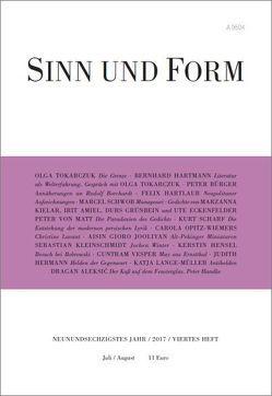 Sinn und Form 4/2017 von Tokarczuk,  Olga