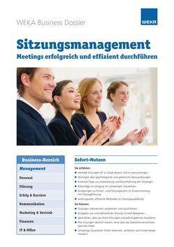 Sitzungsmanagement von Fritz,  Stefan