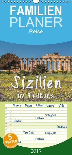 Sizilien im Frühling – Familienplaner hoch (Wandkalender 2019 , 21 cm x 45 cm, hoch) von Kirsch,  Gunter