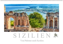 Sizilien – Von Palermo nach Syrakus (Wandkalender 2019 DIN A2 quer) von Meyer,  Dieter
