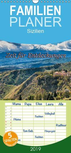 Sizilien – Zeit für Entdeckungen – Familienplaner hoch (Wandkalender 2019 , 21 cm x 45 cm, hoch) von Kirsch,  Gunter