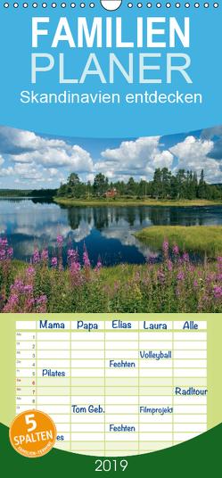 Skandinavien entdecken – Familienplaner hoch (Wandkalender 2019 , 21 cm x 45 cm, hoch) von Scholz,  Frauke