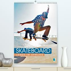 Skateboard: Leben im Sprung (Premium, hochwertiger DIN A2 Wandkalender 2020, Kunstdruck in Hochglanz) von CALVENDO