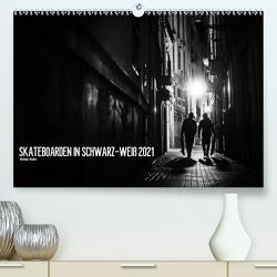 Skateboarden in Schwarz-Weiß (Premium, hochwertiger DIN A2 Wandkalender 2021, Kunstdruck in Hochglanz) von Wagner,  Daniel