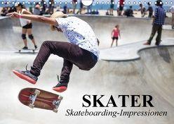 Skater. Skateboarding-Impressionen (Wandkalender 2018 DIN A4 quer) von Stanzer,  Elisabeth