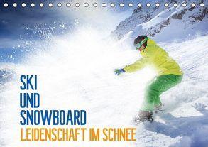 Ski und Snowboard – Leidenschaft im Schnee (Tischkalender 2018 DIN A5 quer) von Thoermer,  Val