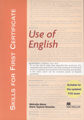 Skills For First Certificate Use of English von Mann,  Malcolm, Taylore-Knowles,  Steve