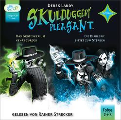 Skulduggery Pleasant 2 Das Groteskerium schlägt zurück + 3 Die Diablerie bittet zum Sterben von Höfker,  Ursula, Landy,  Derek, Strecker,  Rainer