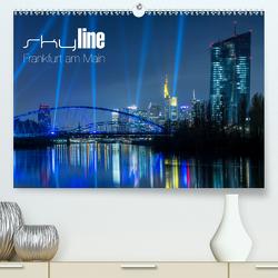 Skyline Frankfurt am Main (Premium, hochwertiger DIN A2 Wandkalender 2021, Kunstdruck in Hochglanz) von Wissler,  Ronald