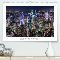 Skylines of New York (Premium, hochwertiger DIN A2 Wandkalender 2020, Kunstdruck in Hochglanz) von Schröder - ST-Fotografie,  Stefan