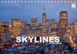 Skylines weltweit (Tischkalender 2018 DIN A5 quer) von Schickert,  Peter