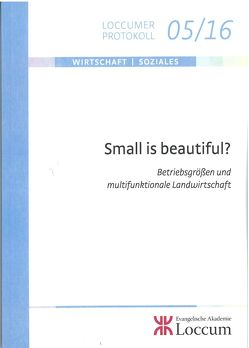 Small is beautiful? von Lange,  Joachim
