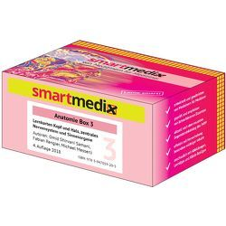 SmartMedix Lernkarten Anatomie Box 3: Kopf und Hals, zentrales Nervensystem und Sinnesorgane von Messerli,  Michael, Rengier,  Fabian, Shirvani Samani,  Omid