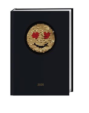 Smiley Pailletten Kalenderbuch A5 Kalender 2020 von Heye
