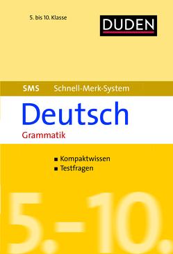 SMS Deutsch – Grammatik 5.-10. Klasse von Hock,  Birgit