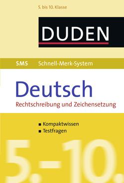 SMS Deutsch – Rechtschreibung und Zeichensetzung 5.-10. Klasse von Fahlbusch,  Claudia, Hock,  Birgit