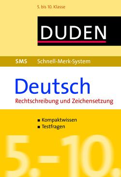 SMS Deutsch – Rechtschreibung und Zeichensetzung 5.-10. Klasse von Hock,  Birgit