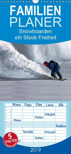 Snowboarden – ein Stück Freiheit – Familienplaner hoch (Wandkalender 2019 , 21 cm x 45 cm, hoch) von Roder,  Peter