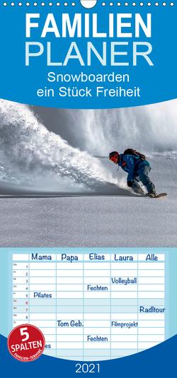 Snowboarden – ein Stück Freiheit – Familienplaner hoch (Wandkalender 2021 , 21 cm x 45 cm, hoch) von Roder,  Peter