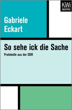 So sehe ick die Sache von Eckart,  Gabriele