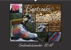 Sockenkalender Bootsocks 2018 (Wandkalender 2018 DIN A2 quer) von myohrengarn.ch,  k.A., und Viola Borer,  Denise
