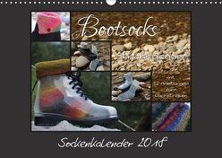 Sockenkalender Bootsocks 2018 (Wandkalender 2018 DIN A3 quer) von myohrengarn.ch,  k.A., und Viola Borer,  Denise