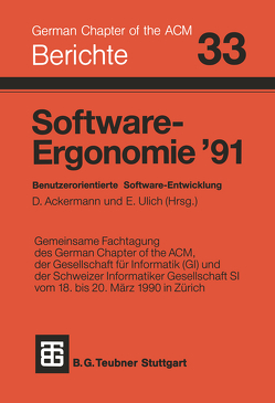 Software-Ergonomie '91 von Ackermann, Ulich