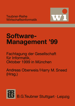 Software-Management '99 von Oberweis,  Andreas, Sneed,  Harry M